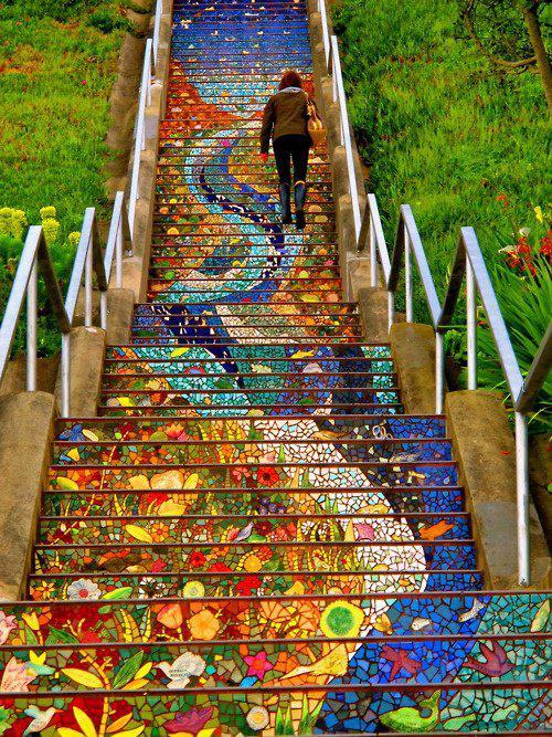 Дизайн лестницы в Сан-Франциско