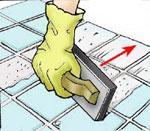 Затирка швов при укладке керамической плитки