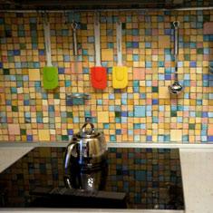 Фартук на кухню из мозаики