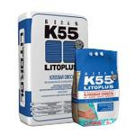 Белый цементный клей Litoplus K55 Litokol для мозаики
