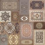 Уникальная плитка для пола Elise Tapis DualGres - керамогранит испанский  в пастельных тонах с этническими декорами 45х45см.