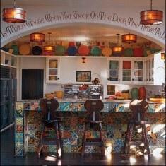 Ручная роспись по плитке на кухне