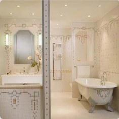Дизайн ванной комнаты с  использованием мозаики