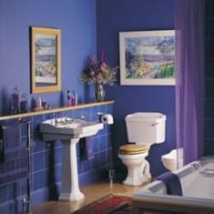 Дизайн ванной комнаты в синий тонах