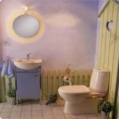 Веселый дизайн туалета
