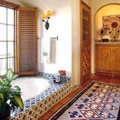 Интерьер ванной комнаты в этническом стиле