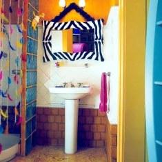 Веселый дизайн ванной комнаты