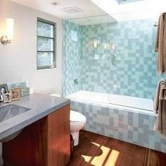 Использование моноколоров в ванной комнате