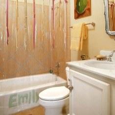 Простой и творческий дизайн ванной комнаты