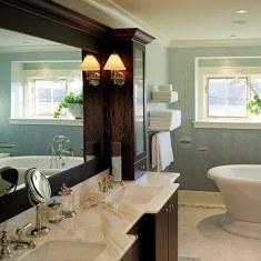Дизайн респектабельной ванной комнаты