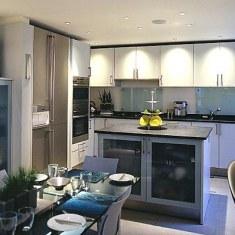 Островной дизайн кухни в современном стиле