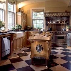 Дизайн кухни с массивной мебелью