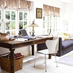 Гостиная, совмещенная с кабинетом. Вариант дизайна