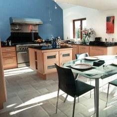 Дизайн кухни столовой с островом