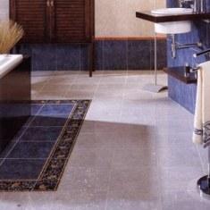 Дизайн ванной комнаты в серо-синей цветовой гамме