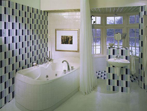 Зимняя ванная комната  в холодных тонах