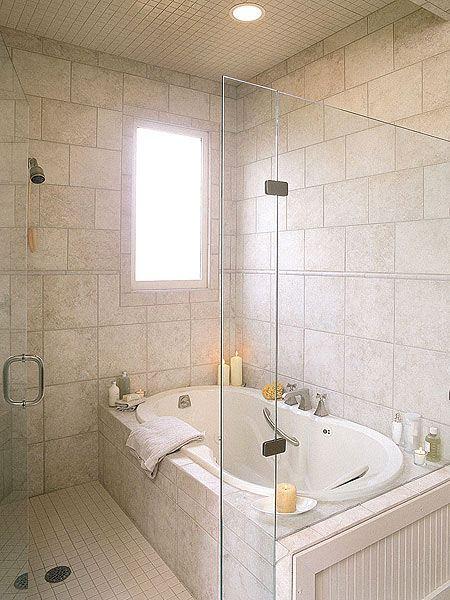Минималистская ванная комната из керамогранита