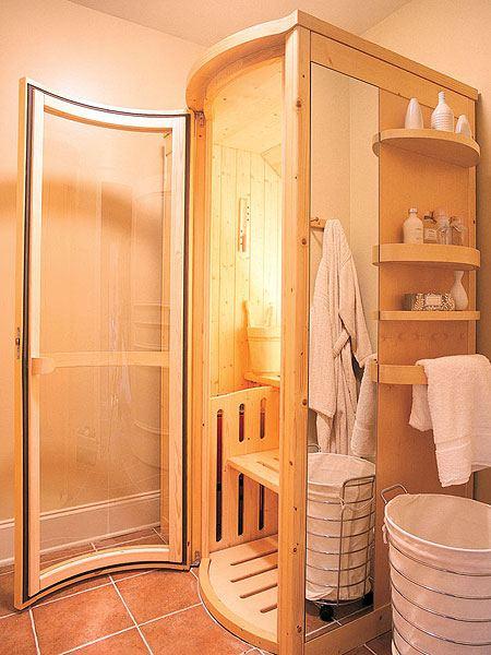 Дизайн ванной комнаты с сауной