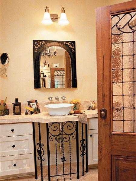 Дизайн ванной комнаты с ковкой