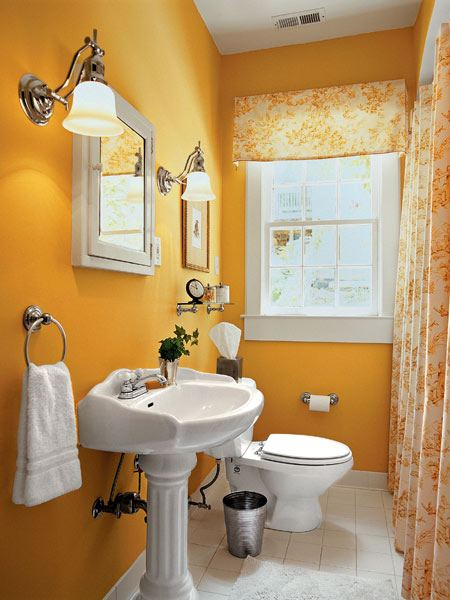 Жизнерадостная ванная комната