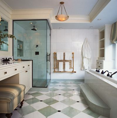 Спокойная и удобная ванная комнаты
