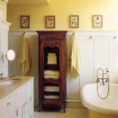 О сочетании разной мебели в ванной комнате