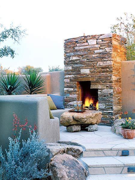 Красивая загородная печь на воздухе