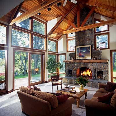 Дизайн камина в загородном доме
