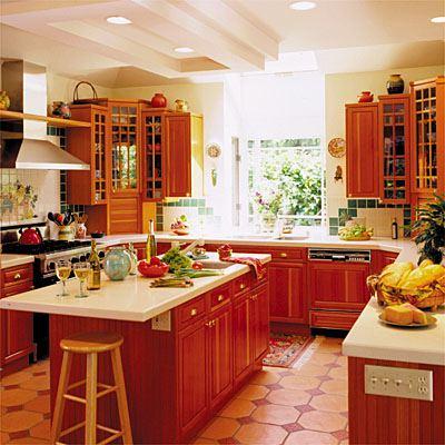 Дизайн кухни с островной зоной