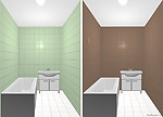 Дизайн маленькой ванной комнаты. Какой цвет плитки выбрать, чтобы увеличить пространство