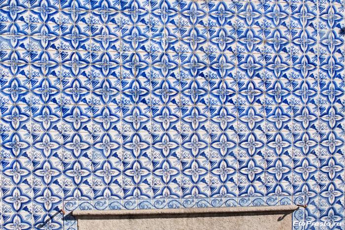 Плитка азулежу синего цвета