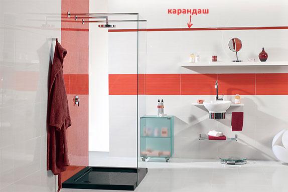 Интерьер ванной комнаты. Плитка Cinca