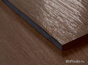 Два варианта поверхности для плитки под дерево