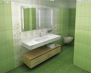 Плитка для ванной Dvarcioniu Keramika коллекция linea
