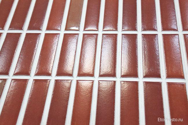 Плитка под мозаику красного цвета. Коллекция Mondrian
