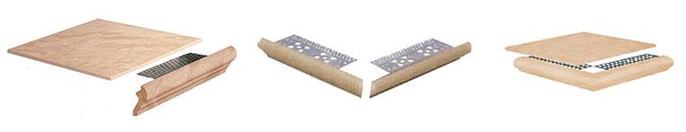Составные ступени из керамогранита. Ступеньки с пластинами и угловые ступеньки с пластинами